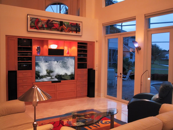 custom home entertainment system with surround sound