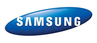 blue and white samsung logo